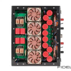 Canever Audio La Scala Reference Amplifier. Im Boden der Canever La Scala befinden sich vier temperaturgesteuerte Lüfter.