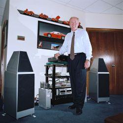 Dave Wilson von Wilson Audio in seinem Büro in Provo