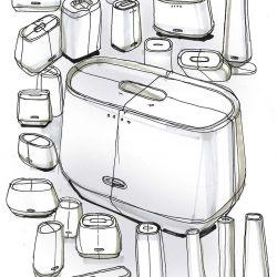 Harman Kardon Citation Tower Design Sketches