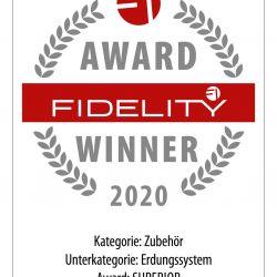 FIDELITY Award 2020 Nordost QBase und QKore