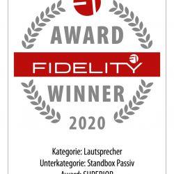 FIDELITY Award 2020 Wilson Audio Sasha DAW