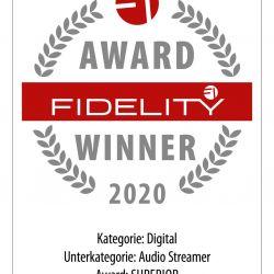 FIDELITY Award 2020 Lumin X1